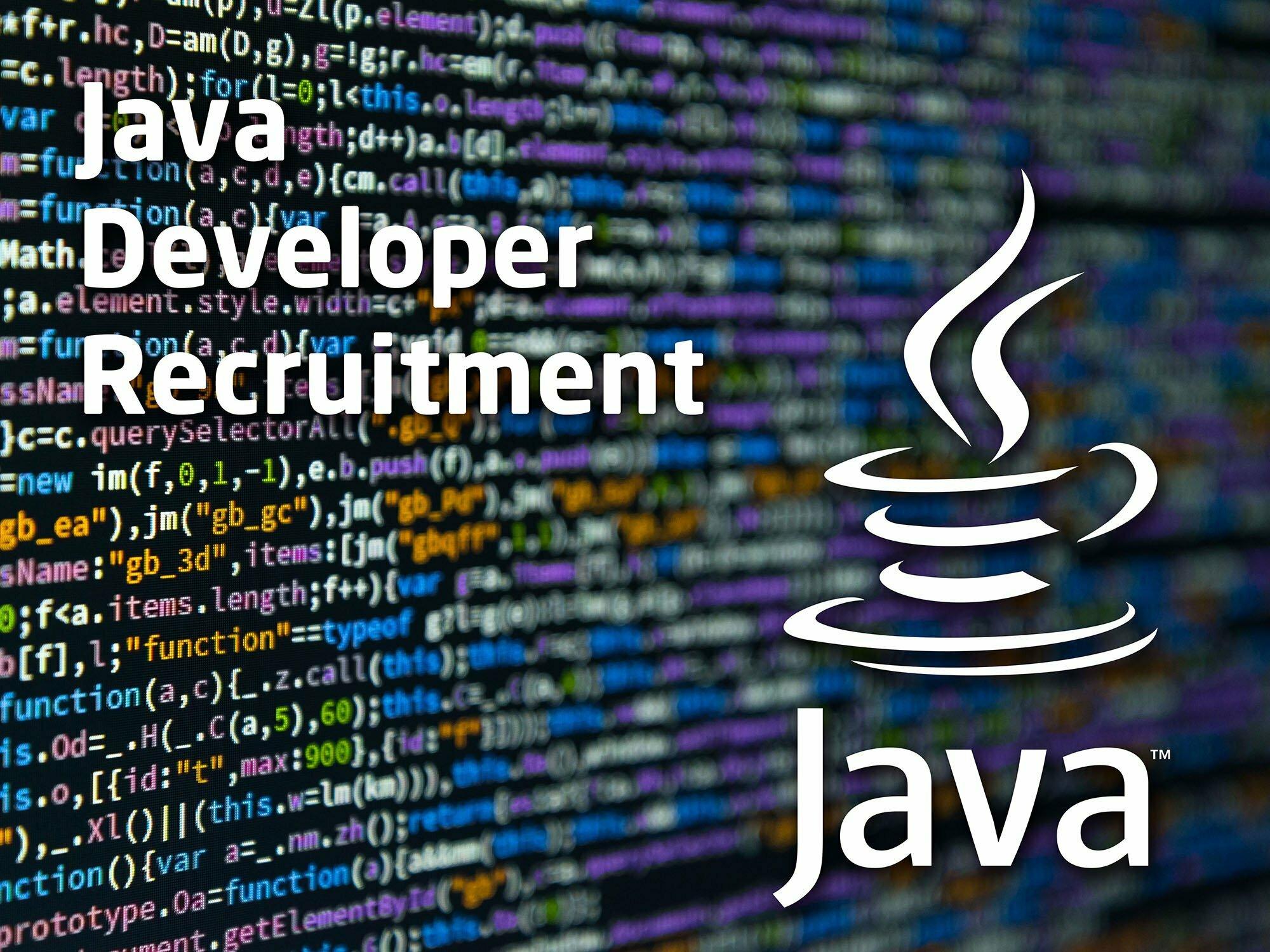 java developer recruitment